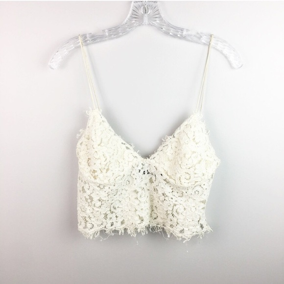 bb4514d979d Zara lace bralette cream colored size large. M_5b17146045c8b3ce37bdb96a